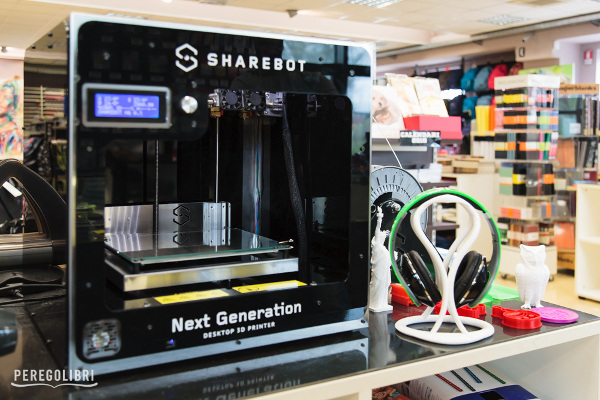 Perego Libri: 3D printing available in a bookshop