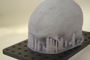 Sharebot Antares 3D prints a skull for post-mortem analysis